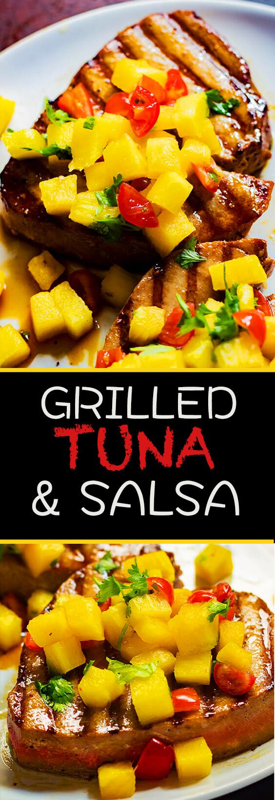 This grilled tuna steaks with pineapple salsa packs the perfect punch of savory, sweet and spicy. Make it today.