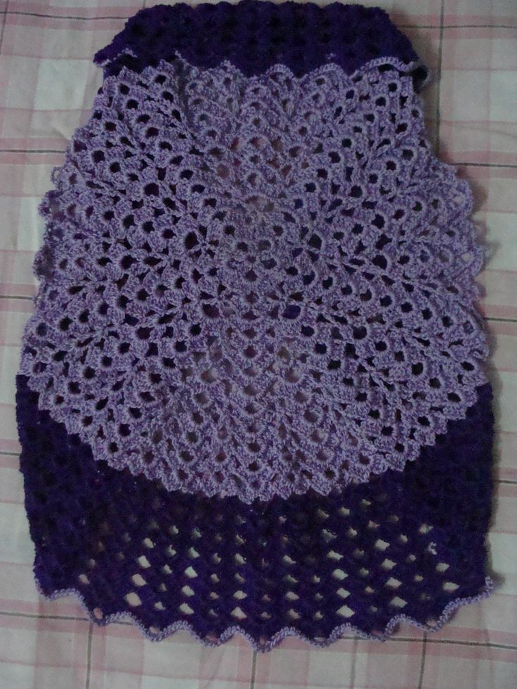 crochet shrug(back side)