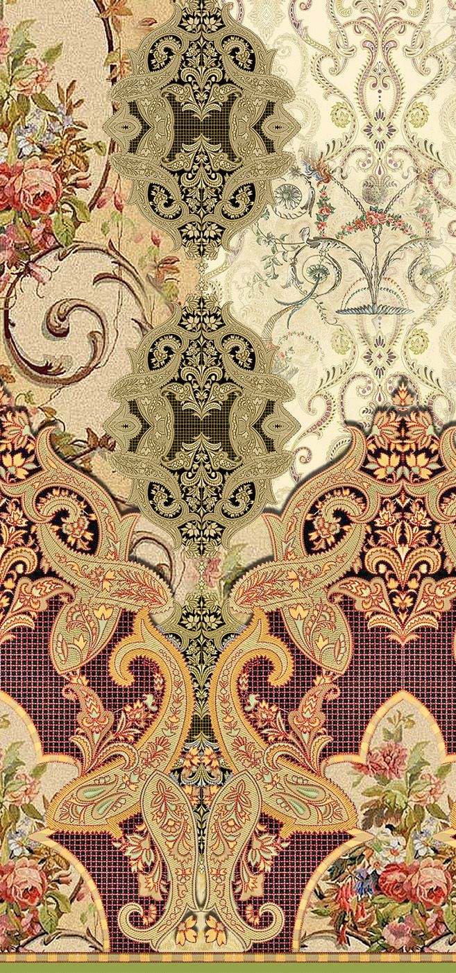 / paisley and floral pattern /