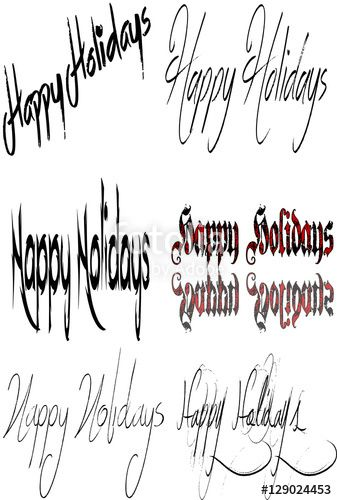 Happy holidays sign Collage