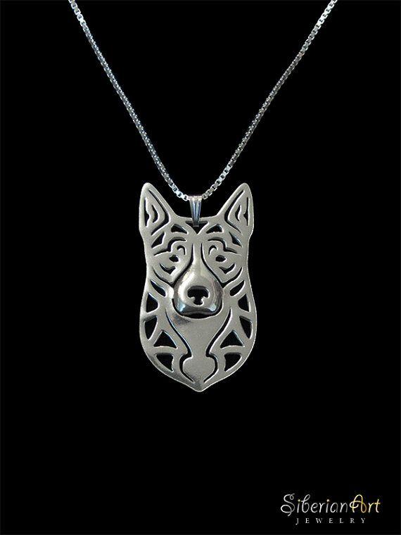 Australian Cattle Dog  sterling silver by SiberianArtJewelry, $99.00