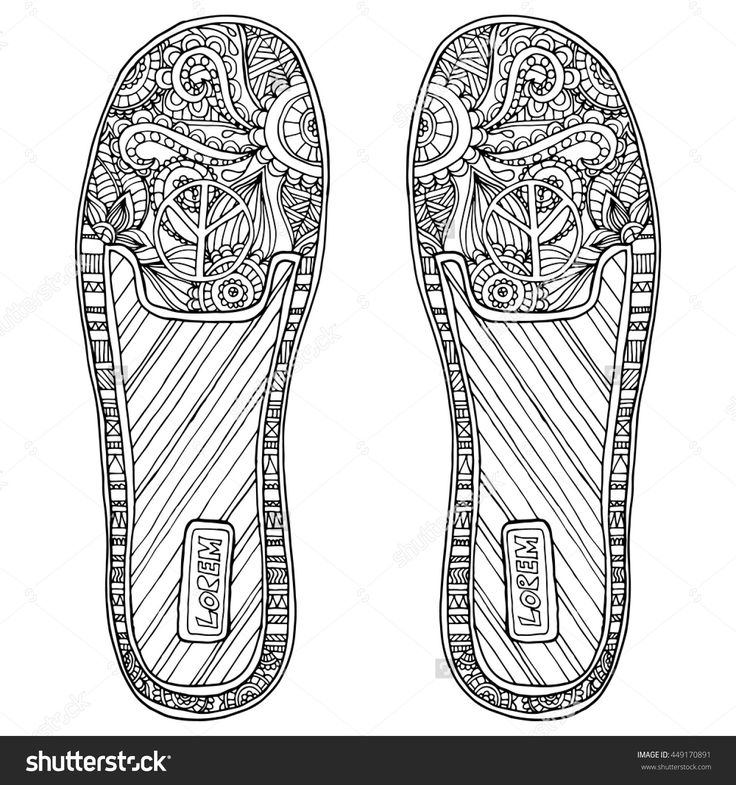 265 best coloring feet, hand, shoe images on Pinterest