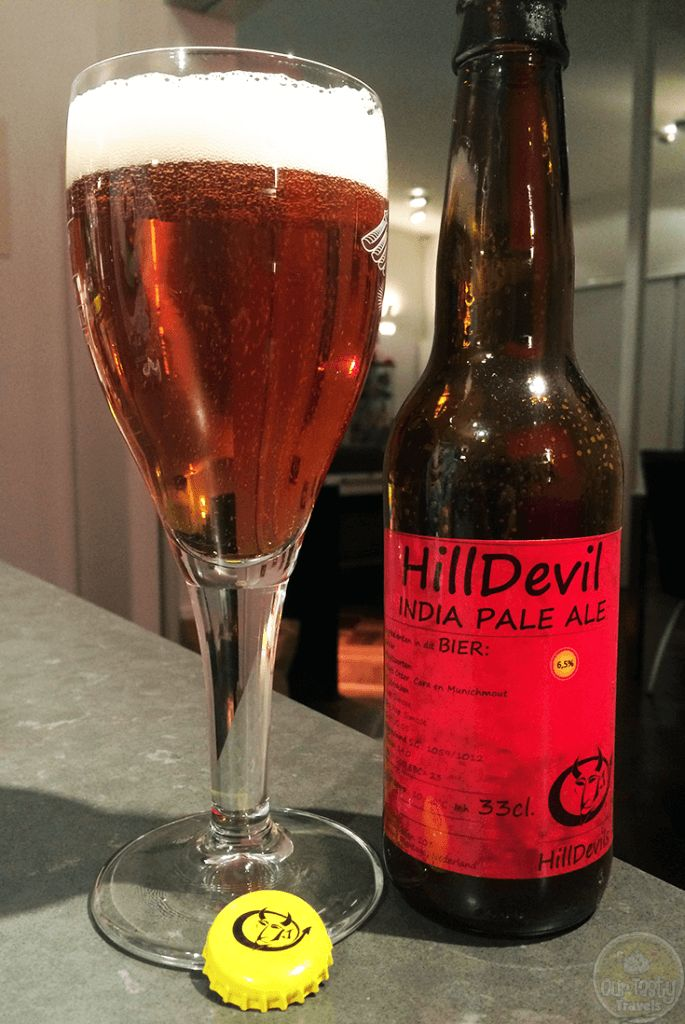 20-Oct-2015: Hilldevil India Pale Ale by Hilldevils. Citrusy bitterness. Some fruity sweetness, but not a lot. Quite a nice IPA. Simcoe hops. 6.5% ABV. 100 EBU. #ottbeerdiary