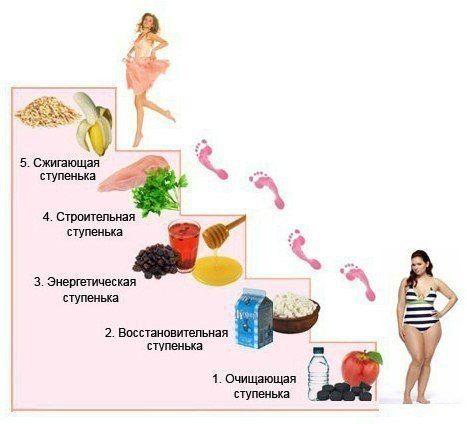 ПОЭТАПНАЯ СИСТЕМА ПОХУДЕНИЯ «Лесенка» - это ступенчатая диета.