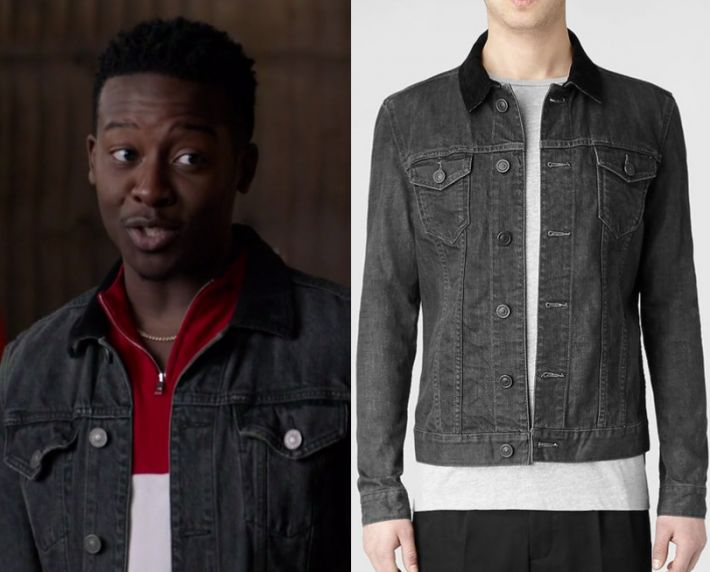 """by Kirsty0 Comments Courtney Rose (Brandon Michael Hall) wears this black collared denim jacket in this episode of The Mayor, """"Buyer's Remorse"""" It is the AllSaints Bering Denim Jacket."""