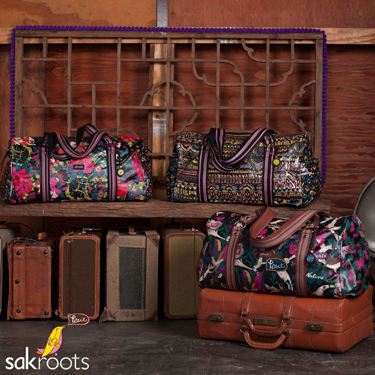 Get out of town. Take off with our collection of XL Duffels and travel accessories featuring colorful art in coated canvas. The perfect travel companions.