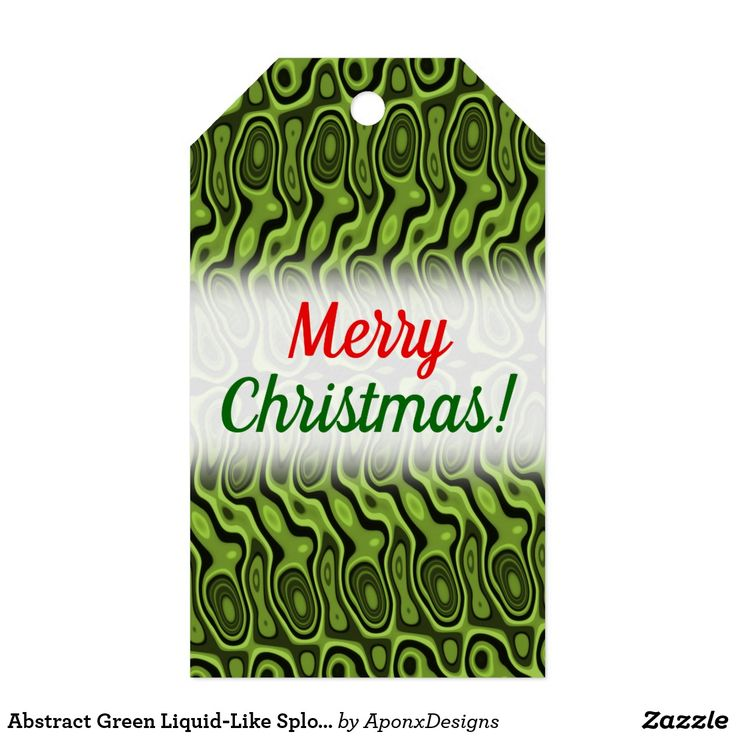 Abstract Green Liquid-Like Splotch Pattern