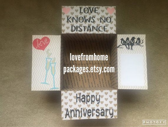 Anniversary Care Package Box Flaps by LoveFromHomePackages on Etsy