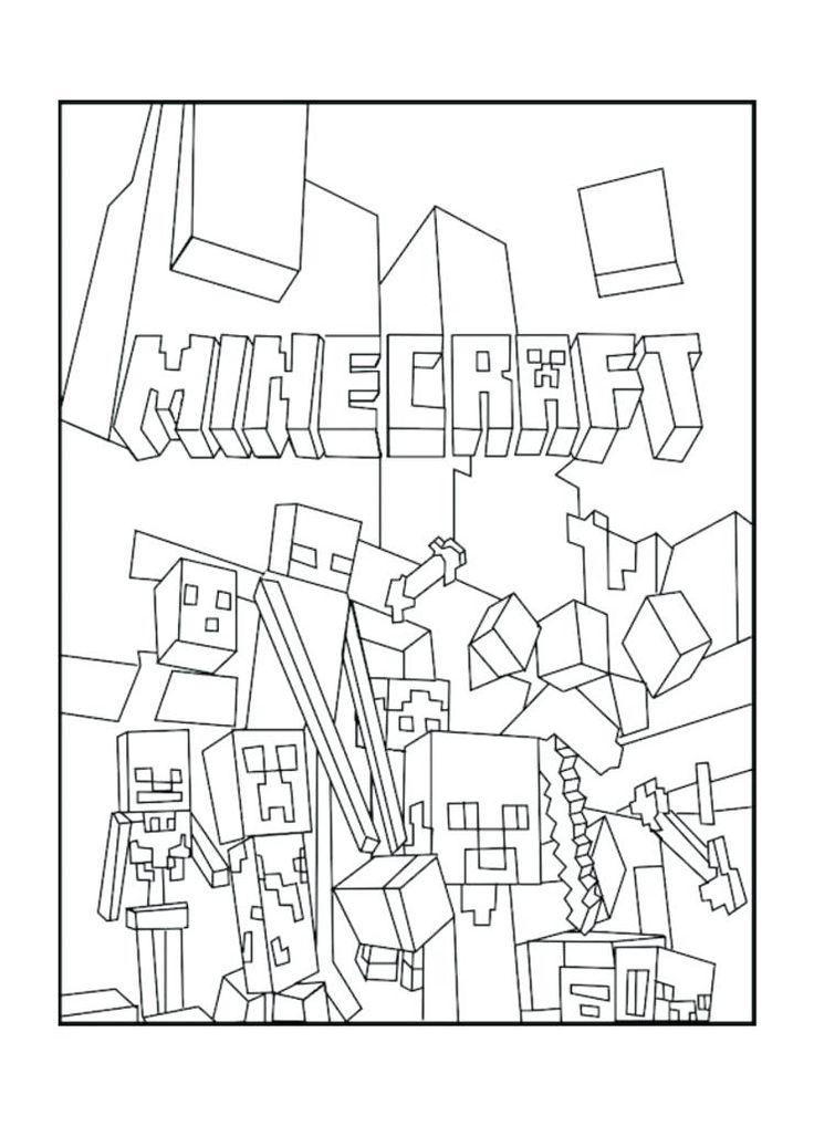 pagine da colorare di minecraft stampabili in disegni da