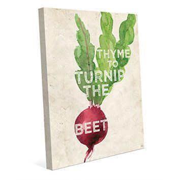 Thyme to Turnip the Beet Funny Saying Quote Watercolor Painting on Distressed Paper-pattern Kitchen Wall Art Print on Canvas    modern home is a beautiful one so why not enhance the look of your house with trendy, cool and unique modern wall art.  Modern wall art decor can include funny wall art, modern metal wall art, and abstract modern wall art.  You will find anything from framed modern wall art to metal wall art decorative accents.  Use modern wall art to gain inspiration and great home…