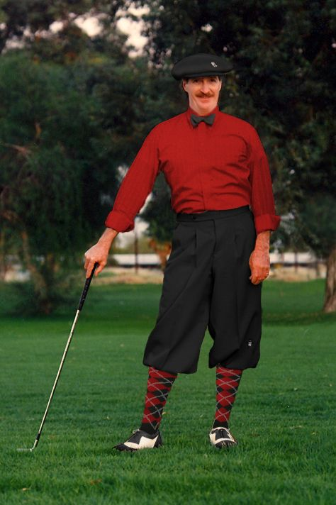 """A true """"Plus Four"""" Golf Knicker in Black with your choice of one of three socks."""