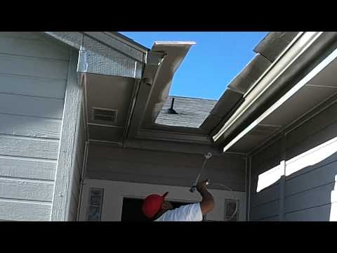 1000 images about gutters on pinterest how to paint for Painting aluminum gutters