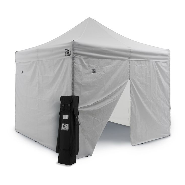 Impact Canopy 10 x 10 ft. Pop Up Canopy with Weight Bags and Roller Bag - AOL-WB4KIT-BK