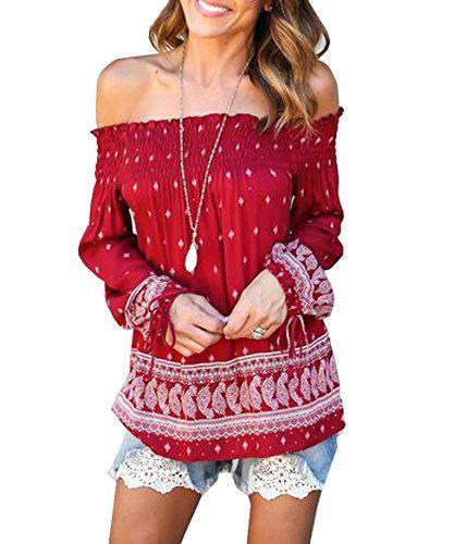 Relipop Fashion Women's Long Sleeve Shirt Strapless Blous...