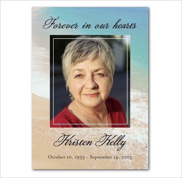 25+ parasta ideaa Pinterestissä Funeral cards Funeral - funeral cards template