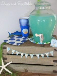Little mermaid party- blue cool aid and lemonade mix... Perfect!