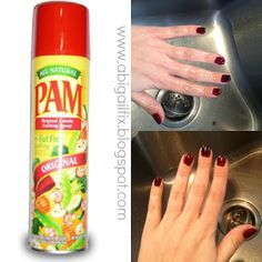Pam to dry wet nails! This works I just tried it and they instantly dried!