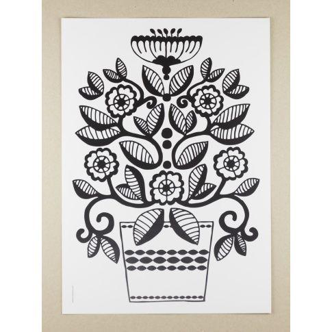Plakat A3 Folklore Flower Lily - MagiaPolnocy.pl sklep w stylu skandynawskim. #muumuru