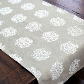 Iron Flowers - Linen Table Runner - hardtofind.