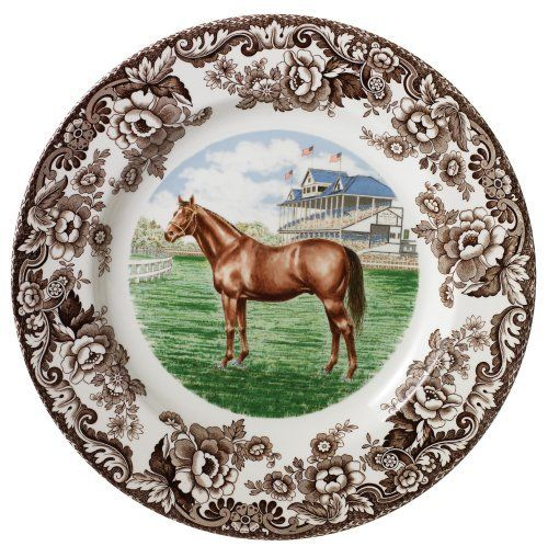 Spode Woodland Thoroughbred  Horse Dinner Plate by Spode, http://www.amazon.com/dp/B0014TJ1JM/ref=cm_sw_r_pi_dp_lyTSqb1CT68P8