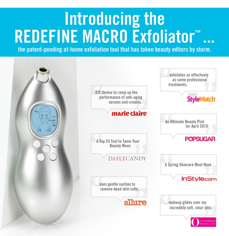 With over 24 million media impressions and counting, the REDEFINE MACRO Exfoliator has beauty editors from Allure, Marie Claire, People Style Watch and more buzzing. #Skinapalooza