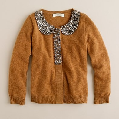 beautiful embellished sweater, love the color