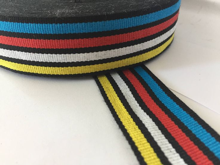 "3 yards of 1.4"" multicolor multistripe ribbon,  grosgrain ribbon, striped grosgrain ribbon, polyester ribbon, by NoaElastics on Etsy"