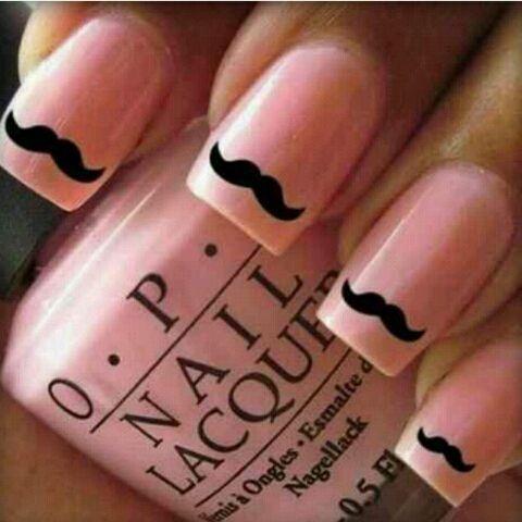 Cute nails  #newlookfashion #nlmovember #movember #moustaches