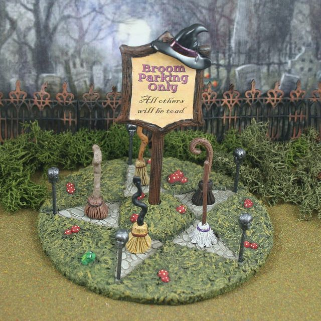 broom parking by skinny bones designs halloween villagehalloween decorationsimagedesignbonesskinny