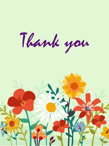 48 best thank you cards images on pinterest card birthday thank send free flower garden thank you card to loved ones on birthday greeting cards by davia its free and you also can use your own customized birthday m4hsunfo
