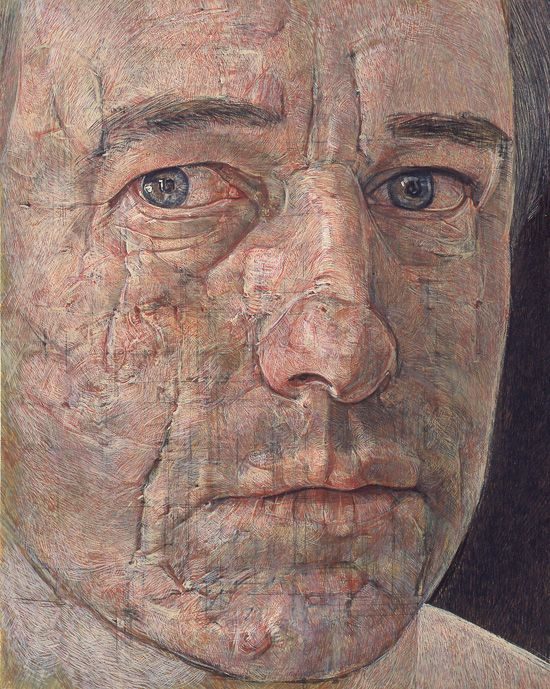 antony williams, self portrait, egg tempera