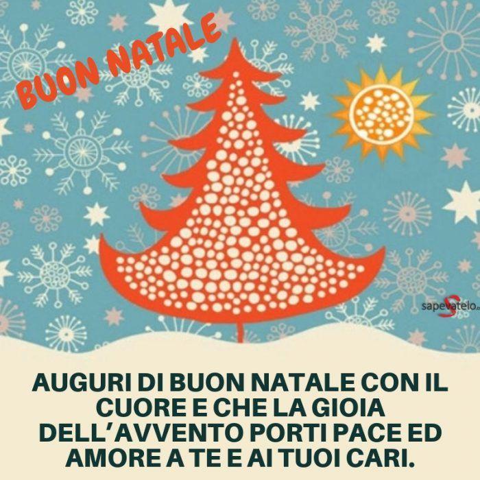 Auguri di Buon Natale con il cuore e che la gioia dell'Avvento porti pace  ed amore a te e ai tuoi cari. | Buon natale, Natale, Auguri natale