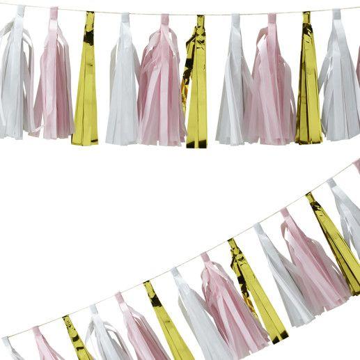 Quasten Girlande – Confetti Party Serie