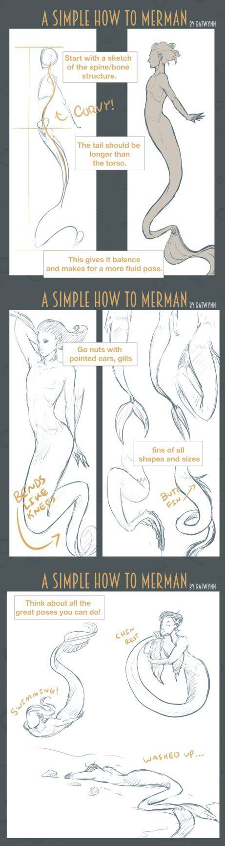 How to Draw Merpeople by Batwynn on DeviantArt