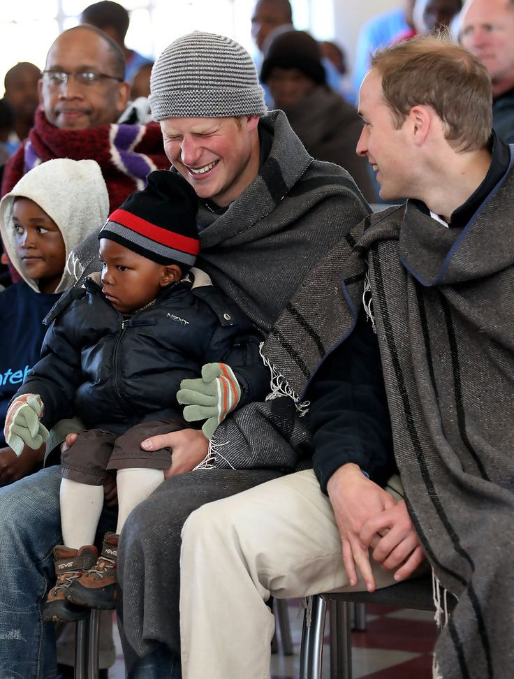 Prince Harry - Prince William And Harry Visit Lesotho - Day 2