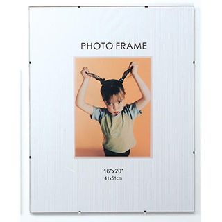 Glass and Clip Frameless Picture Frame - 16x20 inches