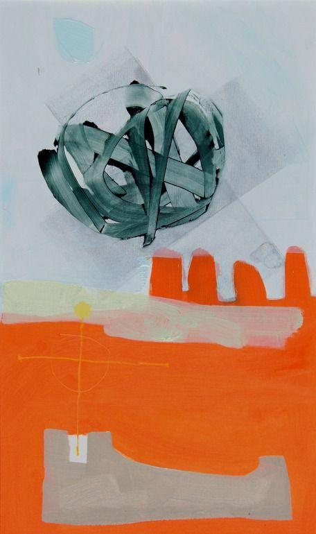 "Saatchi Online Artist: Sue Ninham; Oil, 2010, Painting ""Inky"" #art #orange"