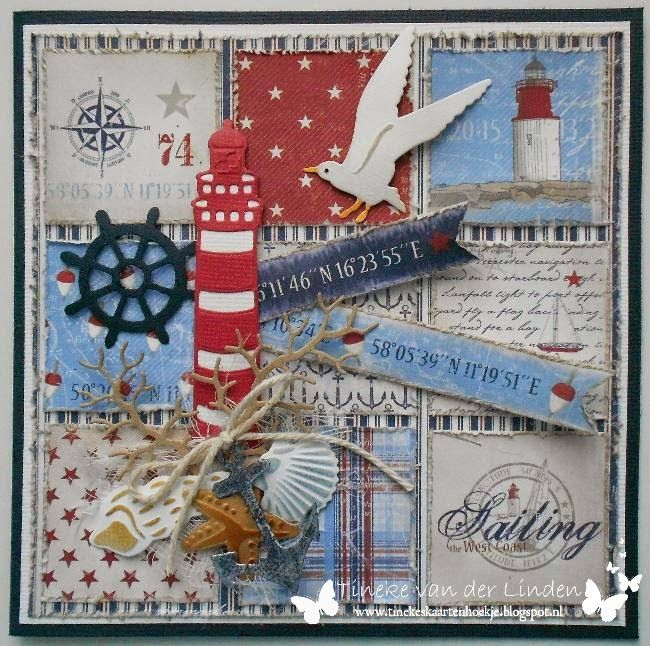 card nautical Marianne design die set - maja design Life by the sea paper pad