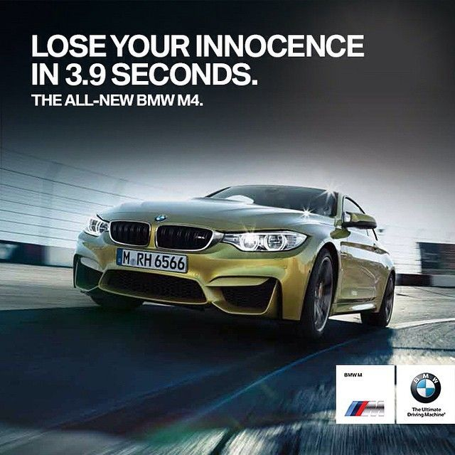 Bmw M4 Coupe Whitty Ad Advertising Cars Speed Inspire Think