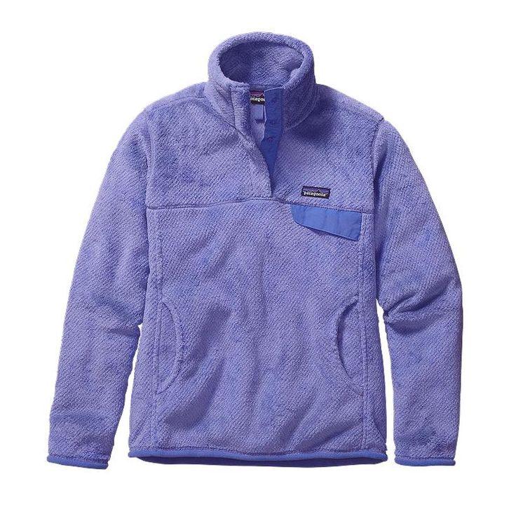 Patagonia Women\'s Re-Tool Snap-T\u00AE Fleece Pullover - Ploy Purple - Violet Blue X-Dye PYVX