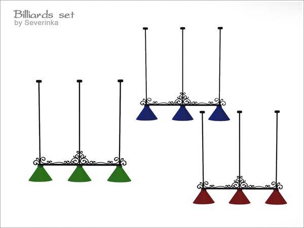 severinka 39 s billiard set lighting sims 4 ls