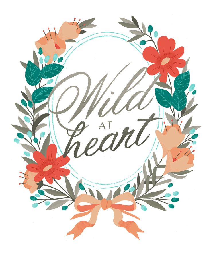 $20 Wild at Heart Print  smalltalkstudio etsy