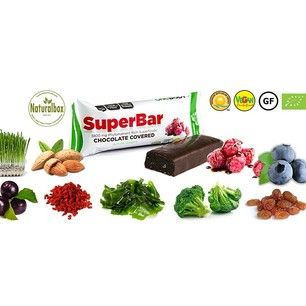 Amazing SUPER BAR with super fruits covered with an organic chocolate - yum! All the vegatables and fruits you see on the picture are inside of it! Order @Naturalbox.com today. FREE shipping worldwide. #naturalboxcom #health #snacks #healthy #healthybox #healthyfood #healthyliving #fitness #fitnessfood #fit #food #subscriptionbox #subscription #superbar #raw #rawfood #organic #eco #natural #vegan #glutenfree  #bars #fruits