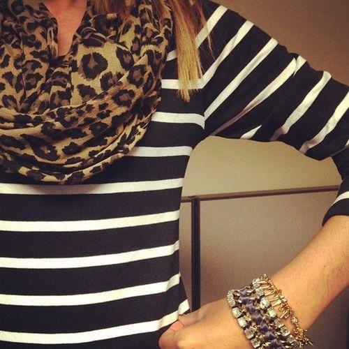 Leopard with stripes. Mix and match.