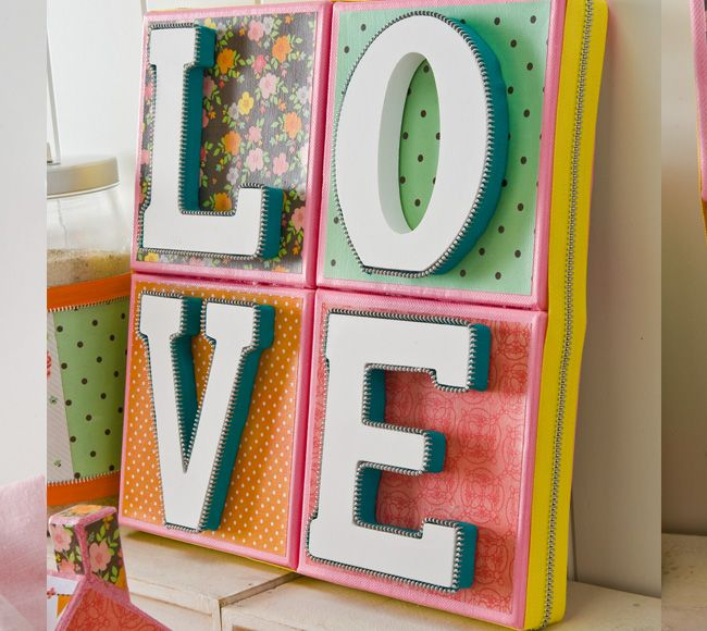 Plaid ® Love Art Canvas #wallart #diy #craft