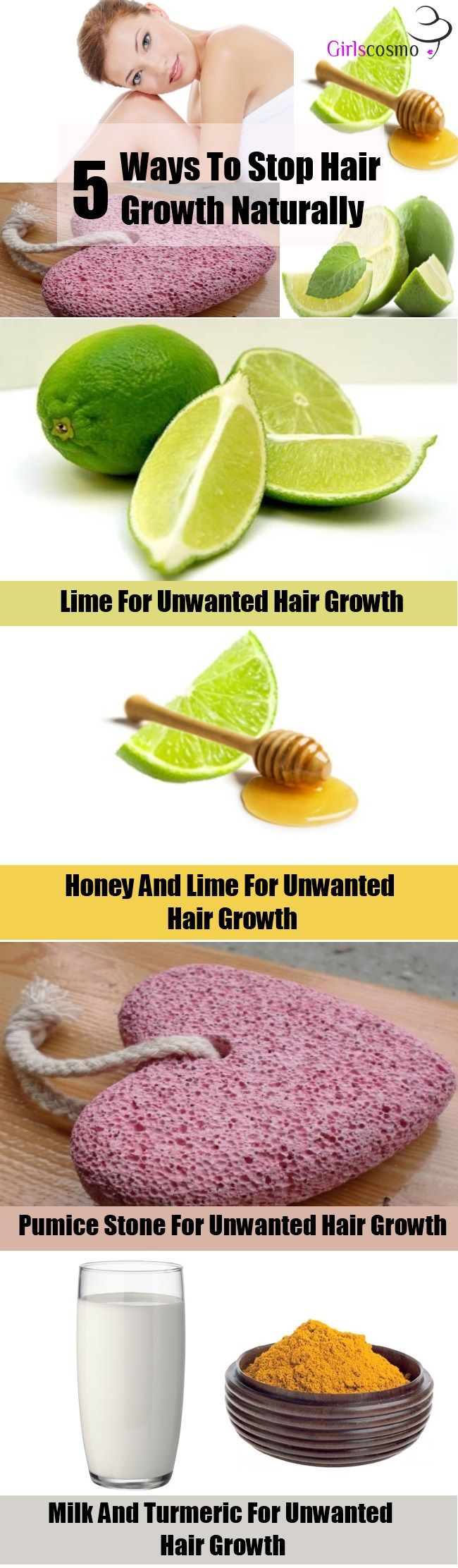 5 Ways To Stop Hair Growth Naturally
