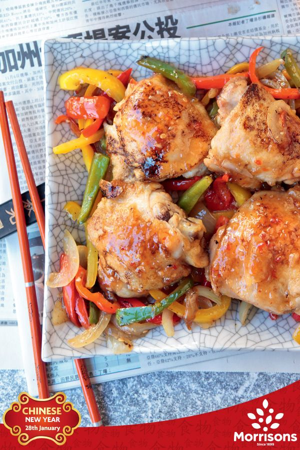 For Chinese New Year, chicken symbolises happiness and fortune. This chicken thigh recipe is really easy and tastes great. Serve with egg fried rice.