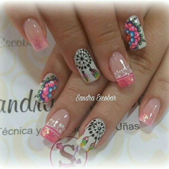 Nail art designs | dream catcher nail art | for summer | for short nails | #nailart
