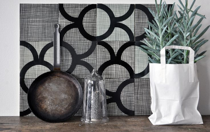 Hey there, Hessian!  Hand printed porcelain tiles from Copenhagen.
