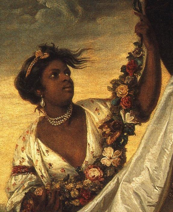 Lady Elizabeth Keppel  by Sir Joshua Reynolds detail